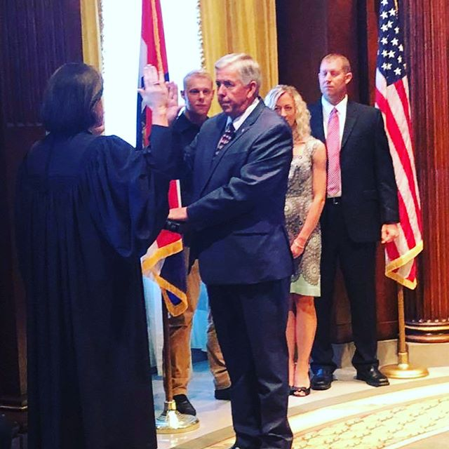 Honored to be a part of Gov. Mike Parson's swearing in ceremony last Friday! #GovMikeParson #MissouriLeader