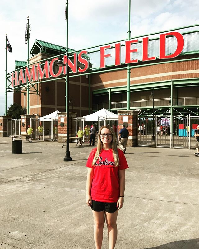 Carissa Gooch, Marketing Coordinator enjoys an evening at the @springfield_cardinals! #ShesTheBest #TheMarketingBunch