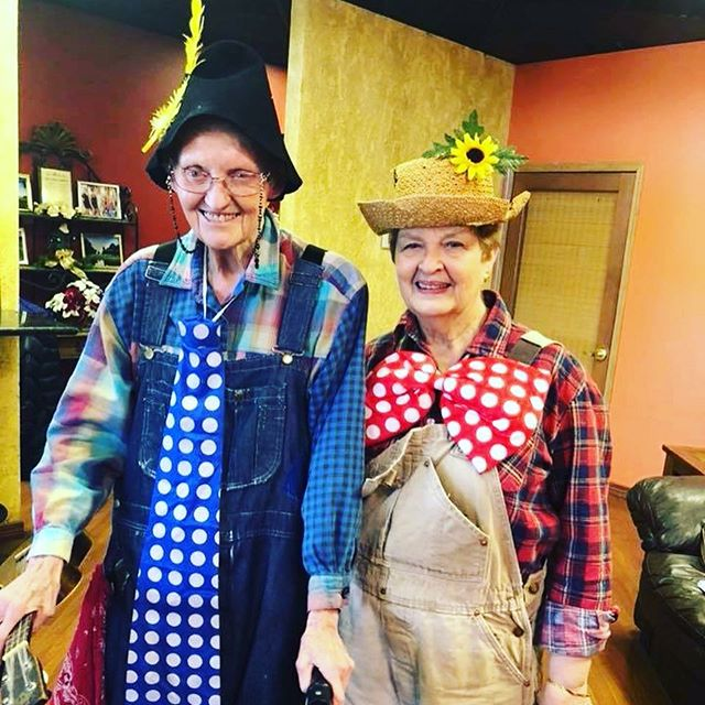 Recognize this famous duo? If you grew up in Bolivar, MO during the last 60 years, you've most likely been treated to one of their mighty fine Hiram and Henry performances. Thanks Rose Roweton and Jean Raney for the surprise performance yesterday! #TheMarketingBunch