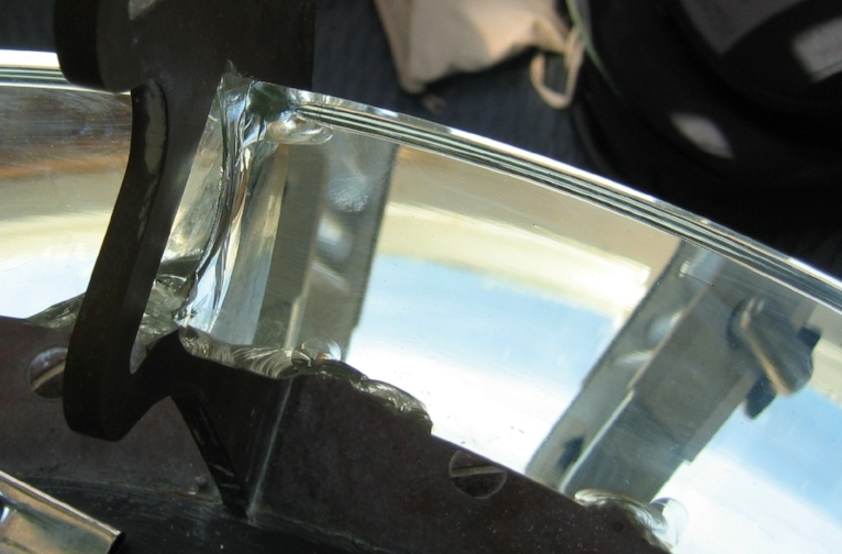 Damaged original prism, Diamond Head light