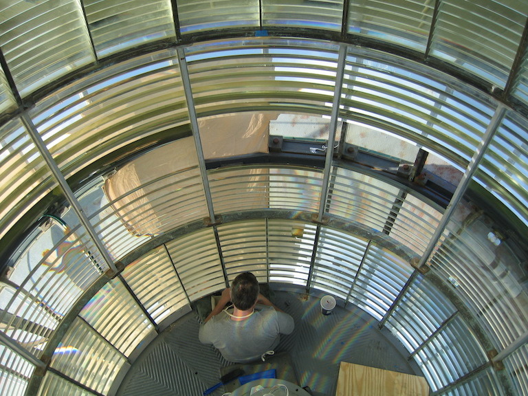 View from inside the Makapu'u Point hyper-radial light (photo courtesy of James Woodward)