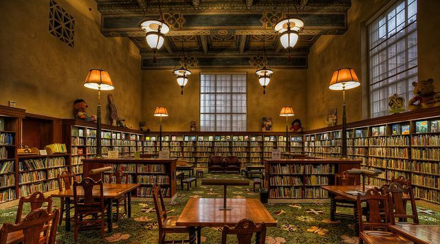 Reproduction of glass lighting for the Los Angeles Central library