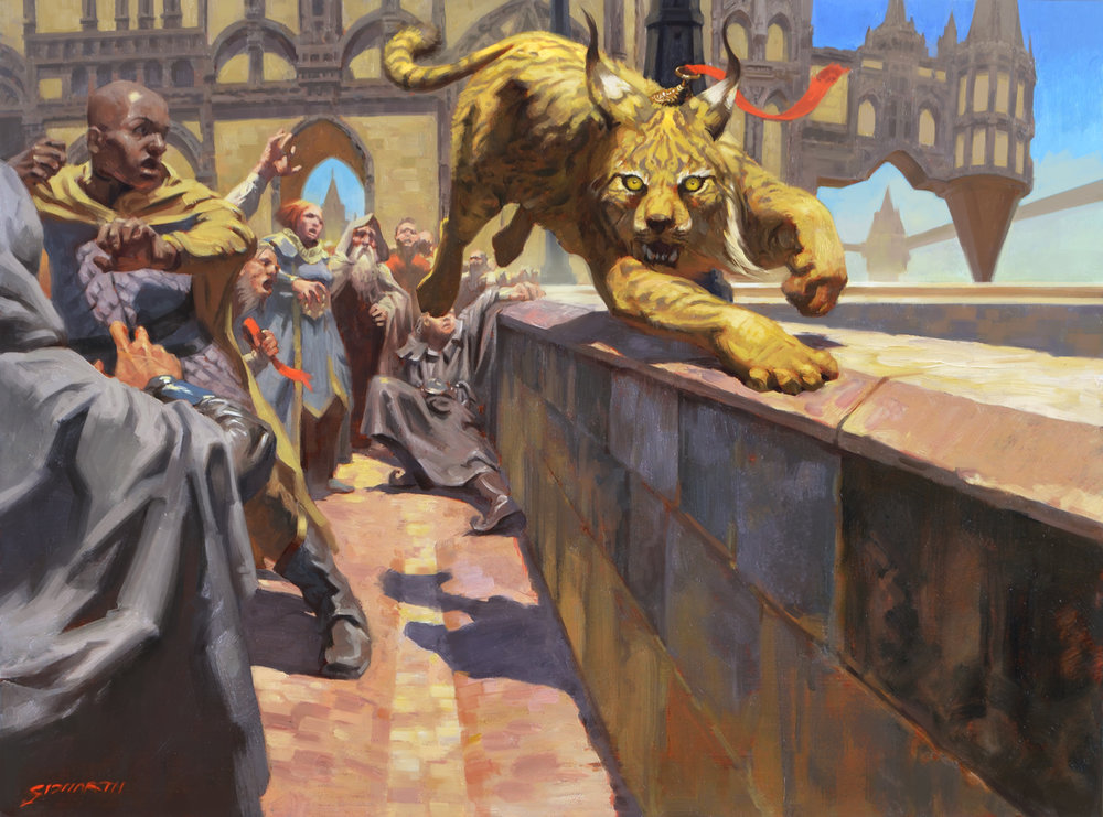 Magic: The Gathering - Pouncing Lynx Oil on 30x40cm Panel © Wizards of the Coast