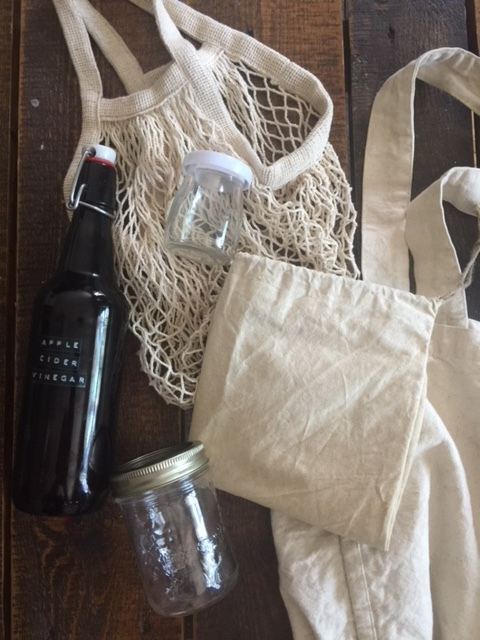 Amanda's Waste-free supplies. - how she preps for the week ahead with waste free items.