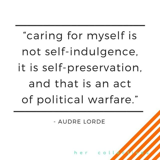 food for thought - our #hersundayritual is recharge. Link in bio. . . _________________________________________________________________________________ #hercollectives #audrelorde #recharge #selfcare #hersundayritual