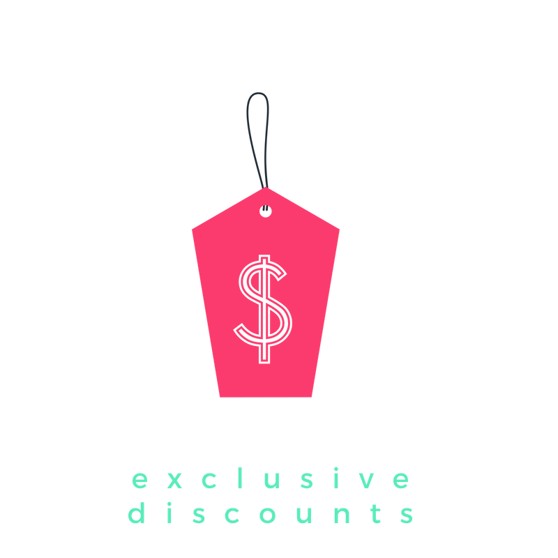 15% Discount  to all Her collectives events (for 6 months)   35% discount  on all Her Business events (for 6 months)