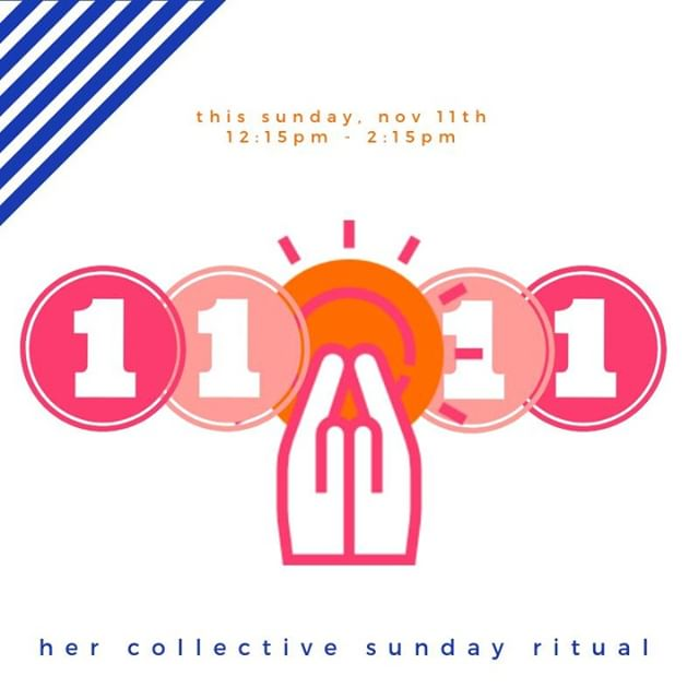 """the number 11 is considered a master number in numerology, and holds a highly creative vibration allowing intentions, goals, and wishes to manifest with greater ease. 11 is also believed to be the number of spiritual awakenings and can help to activate higher states of consciousness."" - tanaaz @foreverconscious ✨ join us this sunday for her sunday ritual @layaspaandyoga for a special nov. 11th ritual. ✨ link in bio for more details and to get your spot. ✨ can't make it this sunday? we host collective sunday ritual every #secondsunday of the month. december theme is green beauty with diy products (hello perfect, thoughtful xmas gift?) and january vision board. ✨ ✨ ✨ ______________________________________________ #numerology #1111 #hersundayritual #mysundayritual #sundayritual #rituals #mindbodysoul #spiritualquotes #spiritjunkie#womensupportingwomen #personalgrowth #torontolife #spiritualgangster #spiritualgrowth #intentionsetting #selfcarematters #selfcaretips #meditation #mindfulness #loveandlight #mindbodygreen #goddess #hercollectives #diy #diygifts #workshop #toronto #wellness"