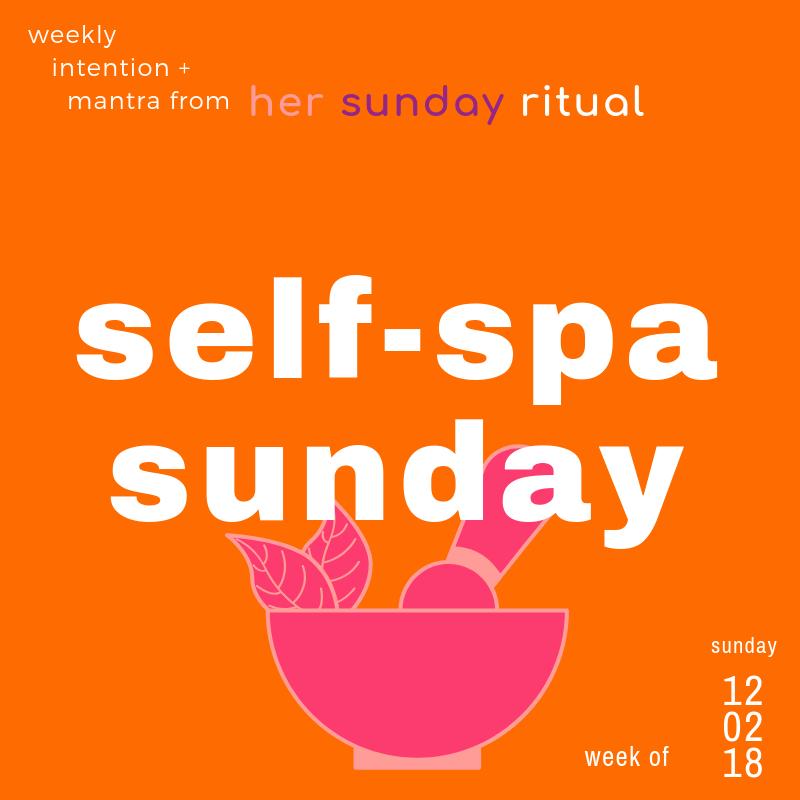 self-spa sunday