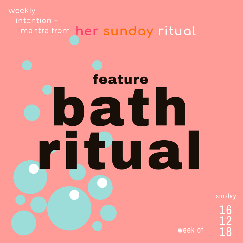 sunday bath ritual - feature