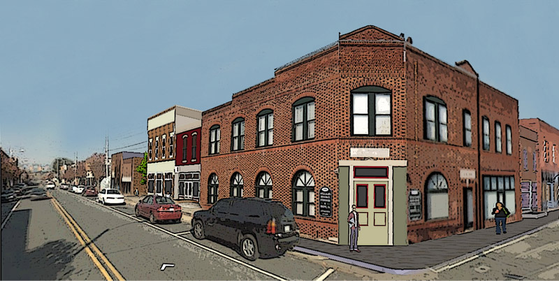 Proposed Main Street infill building