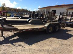 Trailer, Rice Grey Ramp Tandem Axle