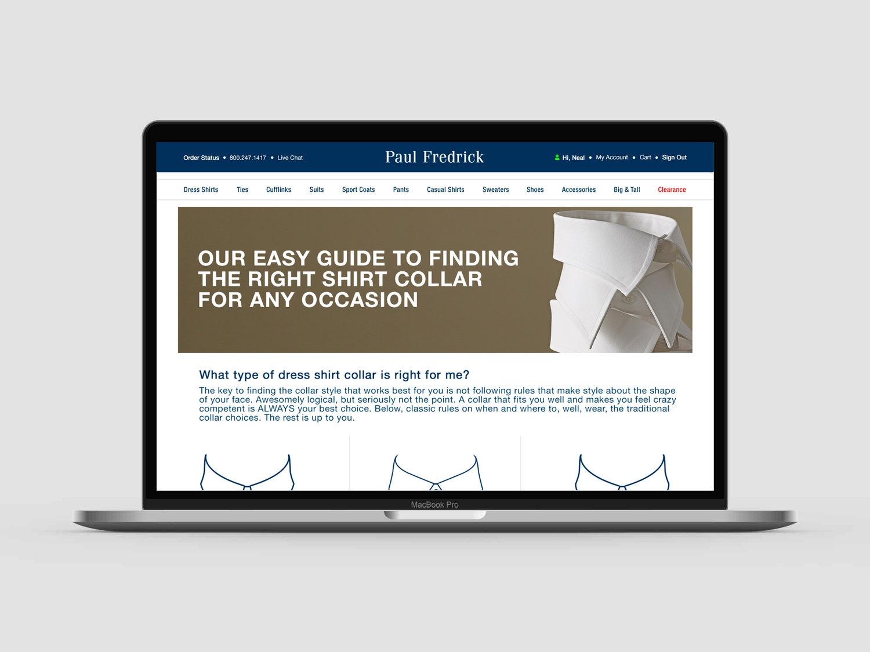 Paul Fredrick- Page Designs — Julianne Feldman Creative