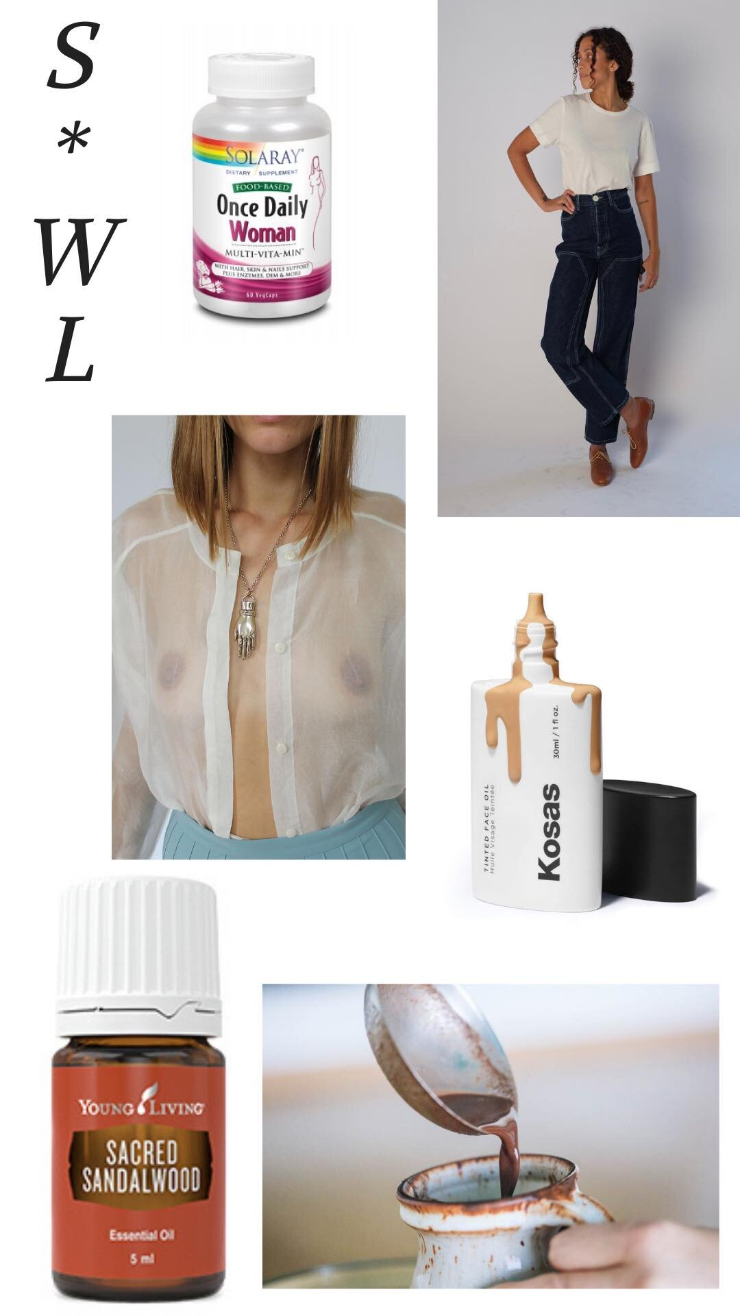 Once Daily Woman | Sacred Sandalwood | Jesse Kamm Pants | Kosas Tinted Face Oil