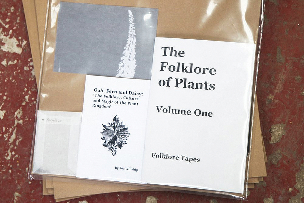 Folklore Of Plants vol.1 - Folklore of TAPES - Sally Golding – Milk Thistle track on The Folklore of Plants Vol. 1 vinyl LP, booklet, leaf and seed compilation.