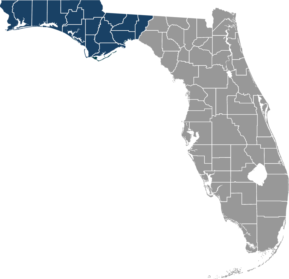 Map of NWFLC Counties