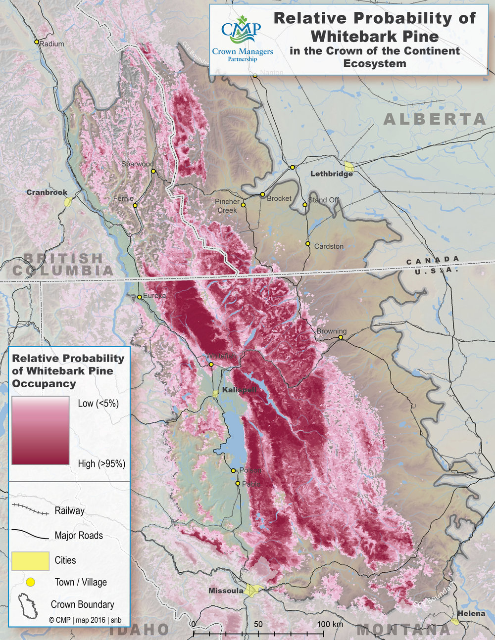 Relative Probability of Whitebark Pine in the Crown