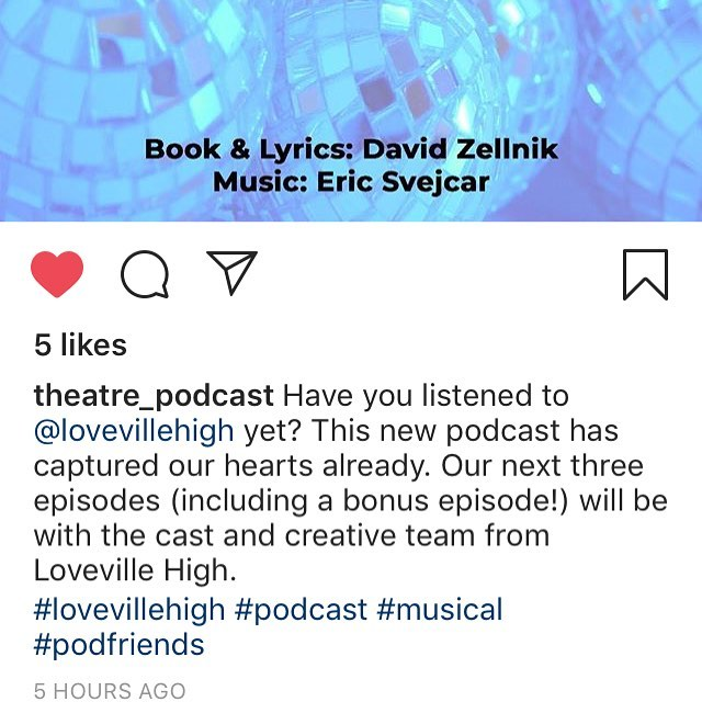 So honored and thrilled to be featured in @theatre_podcast ! And episode 4 drops... tomorrow!