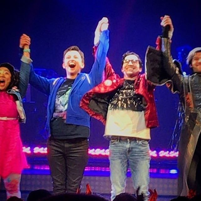 Congrats @mrtroyiwata for his broadway debut stepping in for George Salazar in @bemorechillmusical !!!