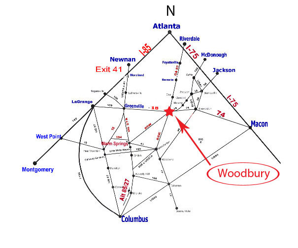 Map to Woodbury