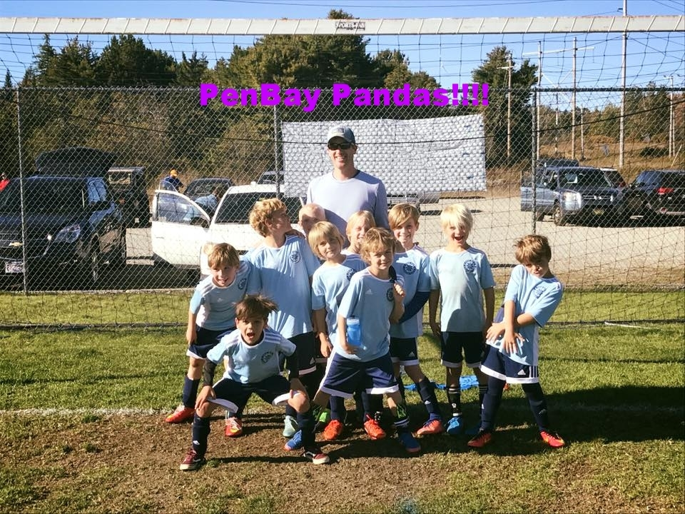 This is a photo of me with my soccer team!