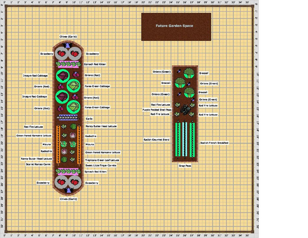 Christina Newhouse created this garden plan for the students at Marble Elementary School to go by while working in the garden.