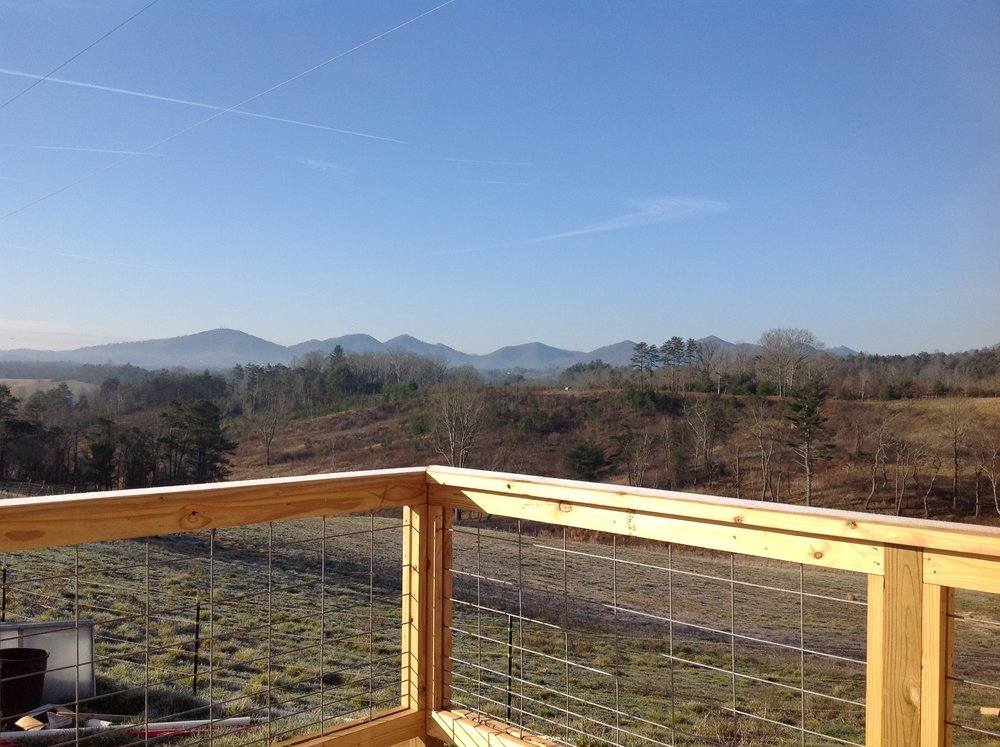 Magnificent views off the back porch of the new community building.