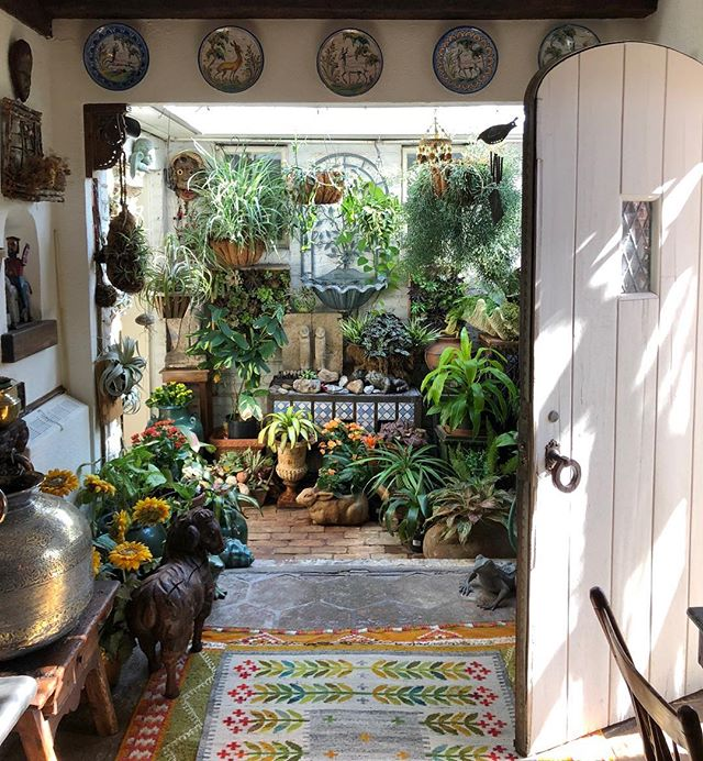 Research field trip a lovely home in Long Island.  This little greenhouse is an unexpected surprise tucked in a hall leading from the kitchen to a back patio.  #greenhouse #interiordesign #architecture #hiddengem #kitchendesign #family #inspiration #heirloom