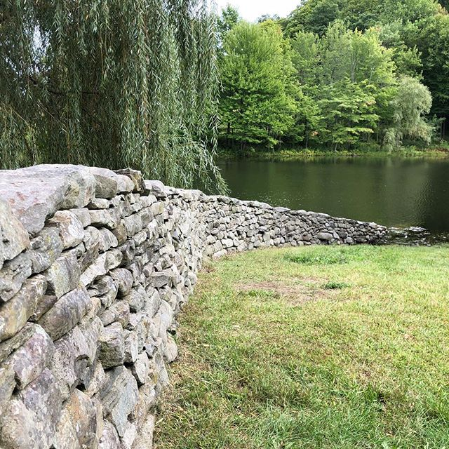 Lovely stroll through Storm King Art Center last weekend.  The wall by #andygoldsworthy remains a favorite. More to come  #landart #monumentalsculpture #stonewall #fall #outdoors #modernart #architect #luxury #fieldtrip