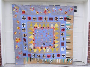 One of Tia's liberated medallion quilts in Gwen Marston's book (I posted a pic of the book recently) ~