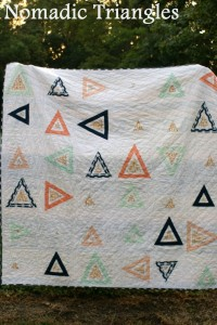 nomadic triangles quilt by quiltytherapy, modern quilt