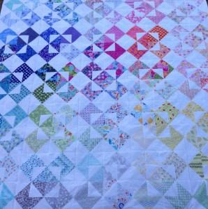 QS Quilt top made with my Kate Spain Australia Charm Swap goodies This baby is just for me! :D