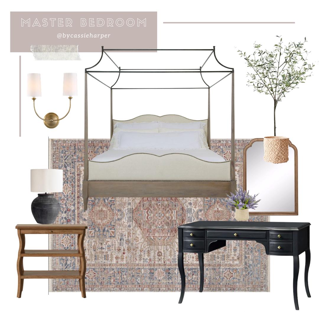 Traditional Master Bedroom Mood Board Design Cassie Harper