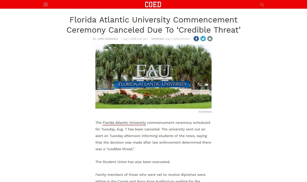 FAU sign (COED - New York, New York)