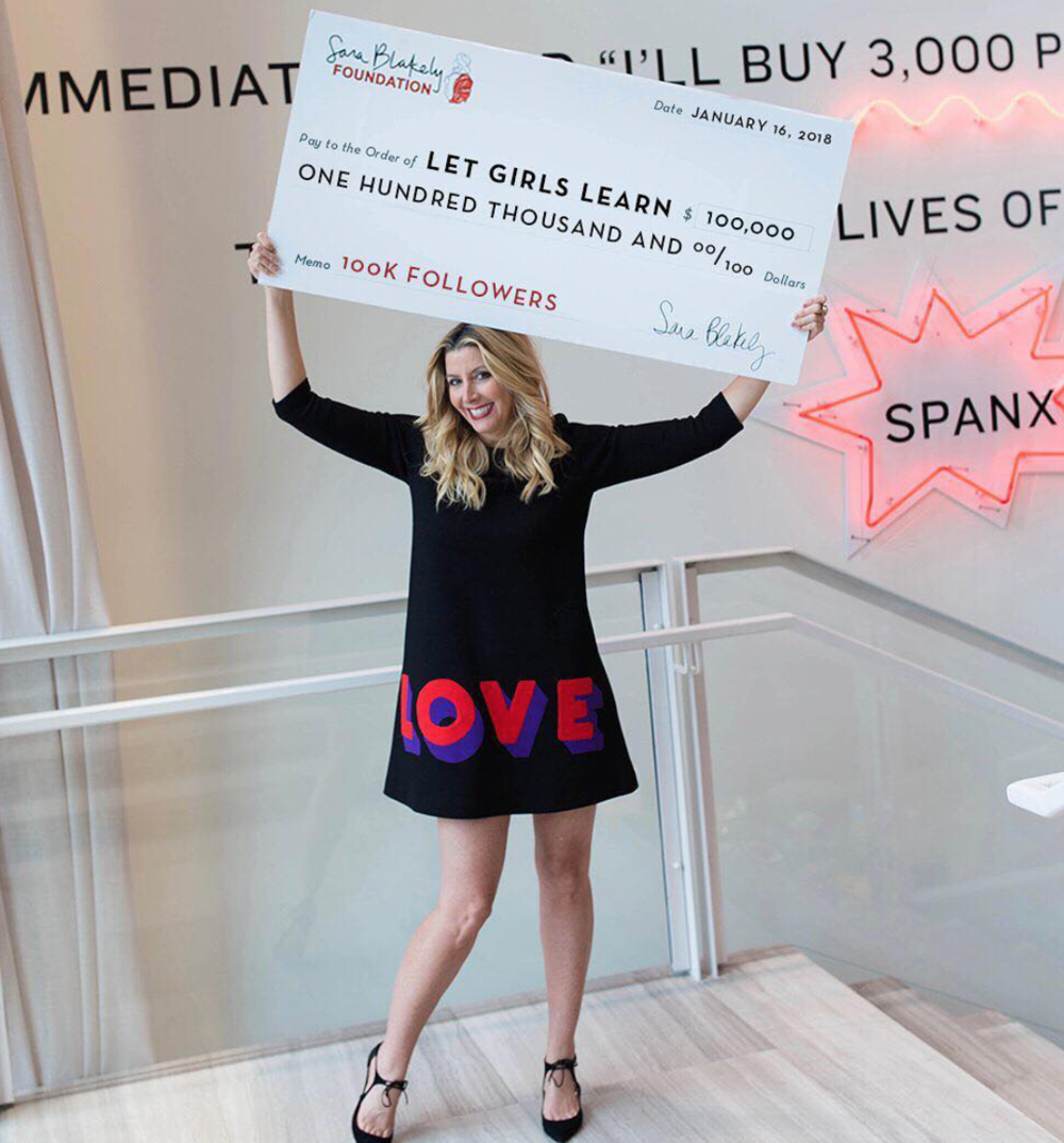 Sara Blakely - You can find her story on NPR's How I Built This!