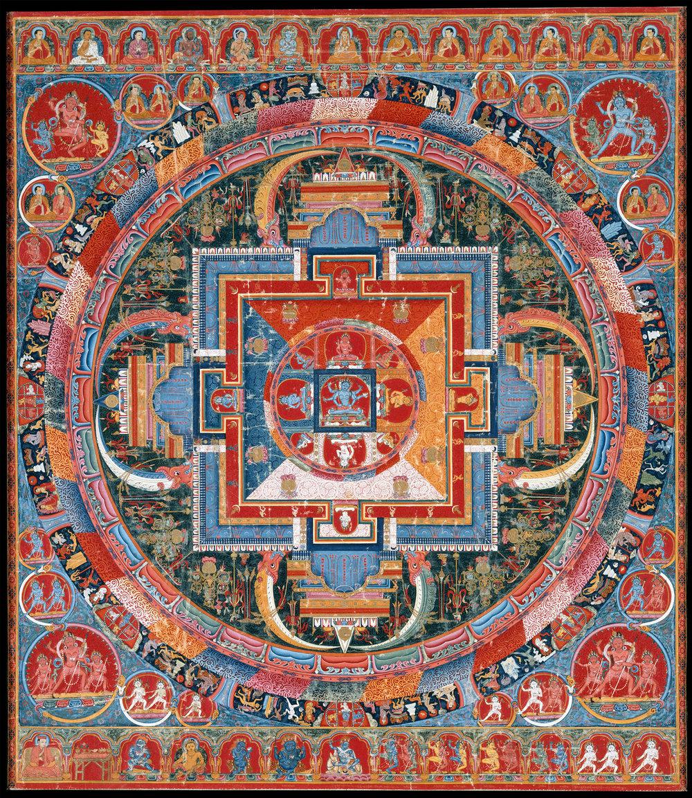 Figure 10:  Mandala of Jnanadakini , Tibet late 14th century
