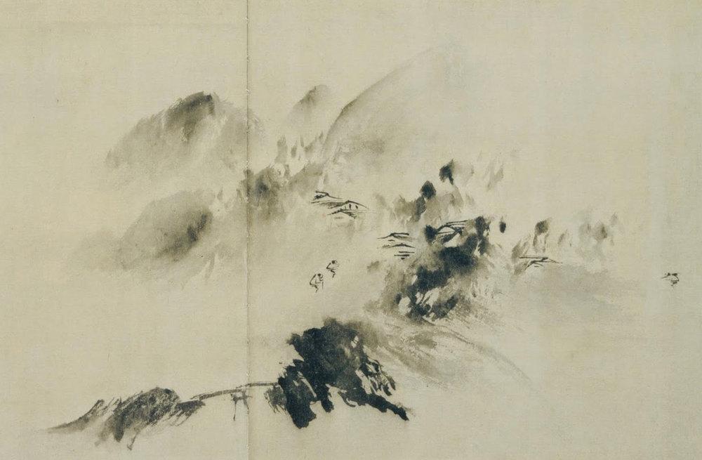 Figure 15;  Mountain Village in Clearing Mist , Yu Jian, 1220