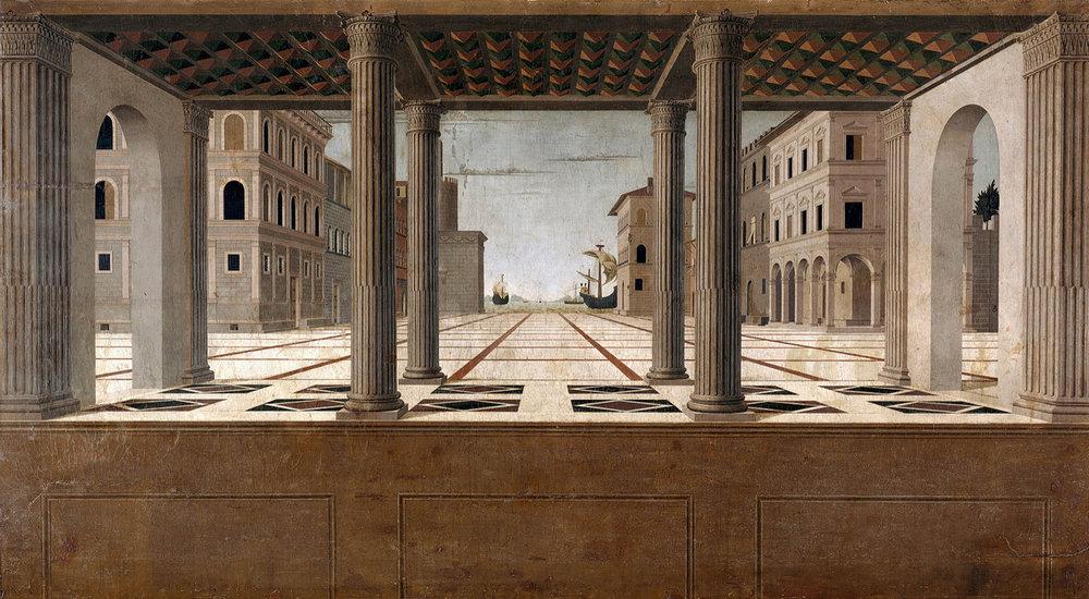 Figure 23:  Ideal City , Francesco di Giorgio Martini, 1490-91