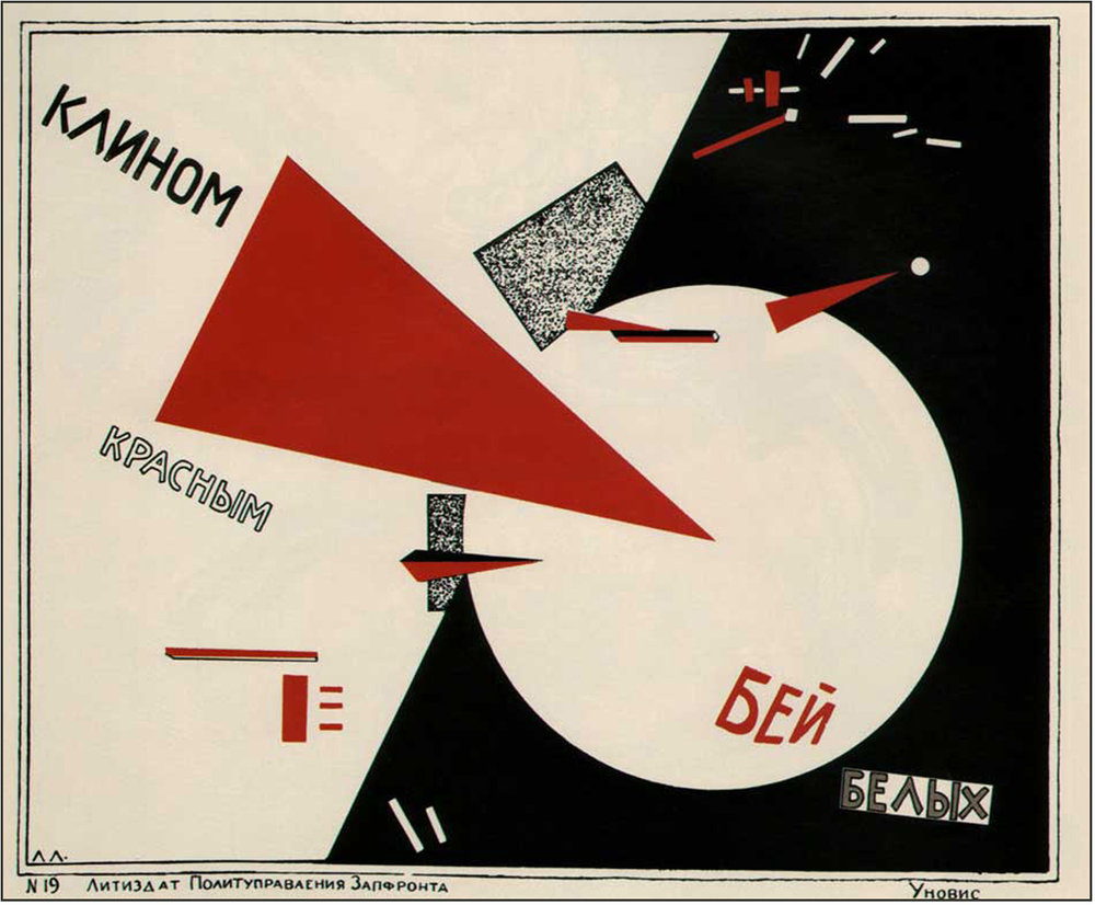 Figure 25:  Beat the Whites with Red Wedge , El Lissitzky (1919)
