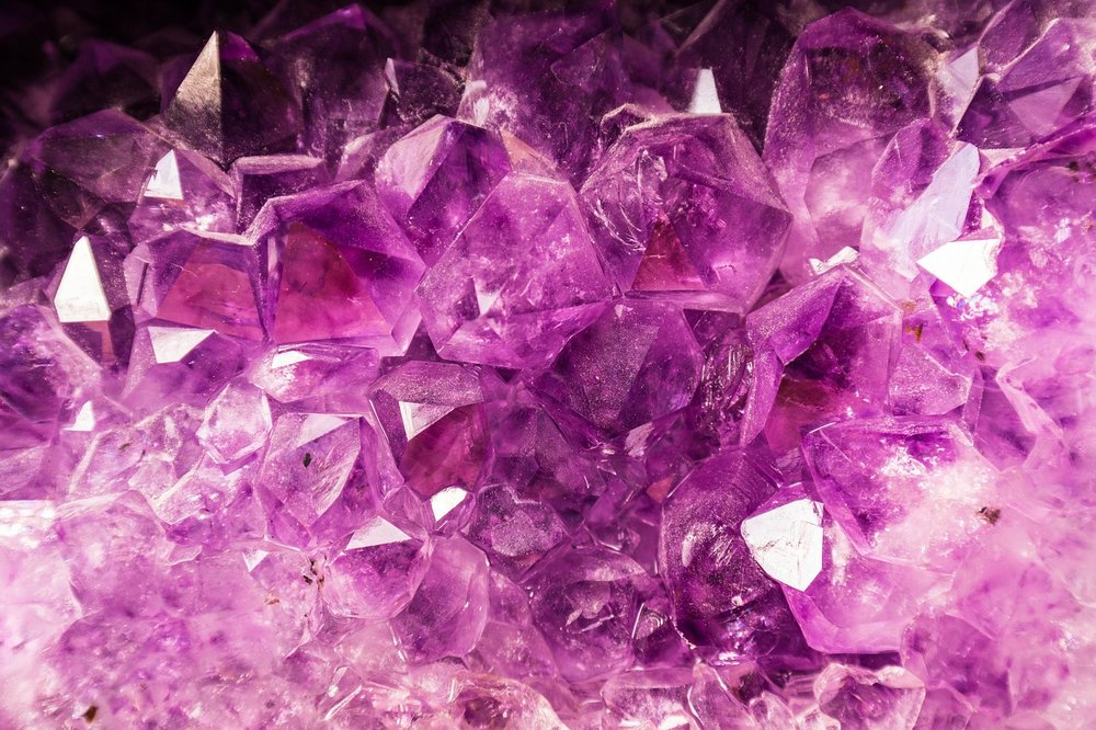 Amethyst is one of the crystals present in the InfraRed Mat.