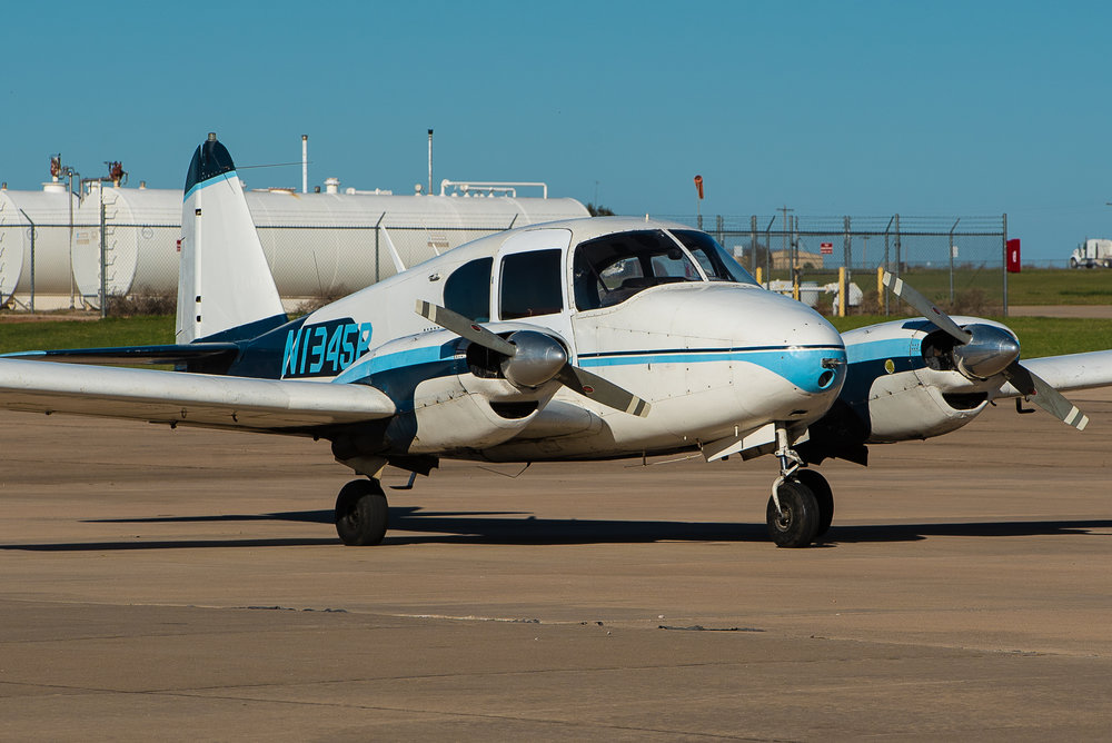 N1345P - Piper Apache PA-23 is our go to for Multi Engine Training.  Four seater powered by two 160 HP Engines, retractable landing gear and constant speed propellers. Mainly used to get your Initial Multi Engine Commercial Certificate or a Multi Engine Add on.$225 WET