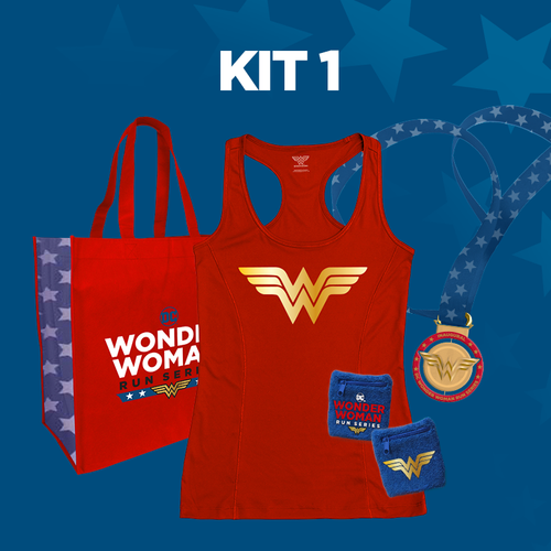 - Kit 1 includesWomen's cut tech tank, commemorative tote bag and wrist cuffs.