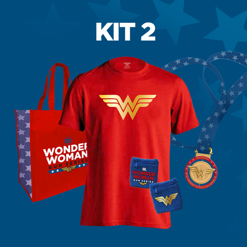 - Kit 2 includesUnisex tech shirt, commemorative tote bag and wrist cuffs.