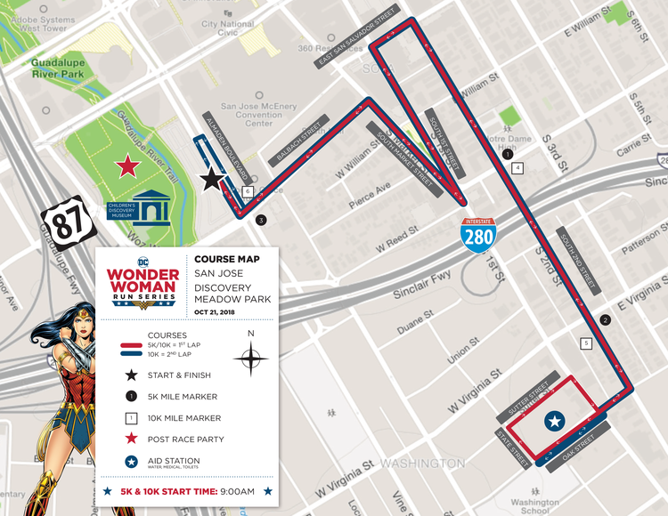 San Jose, CA — DC WONDER WOMAN RUN SERIES