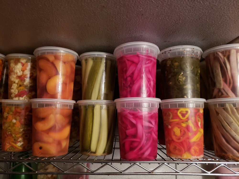 House-made pickles at Bettola Bistro