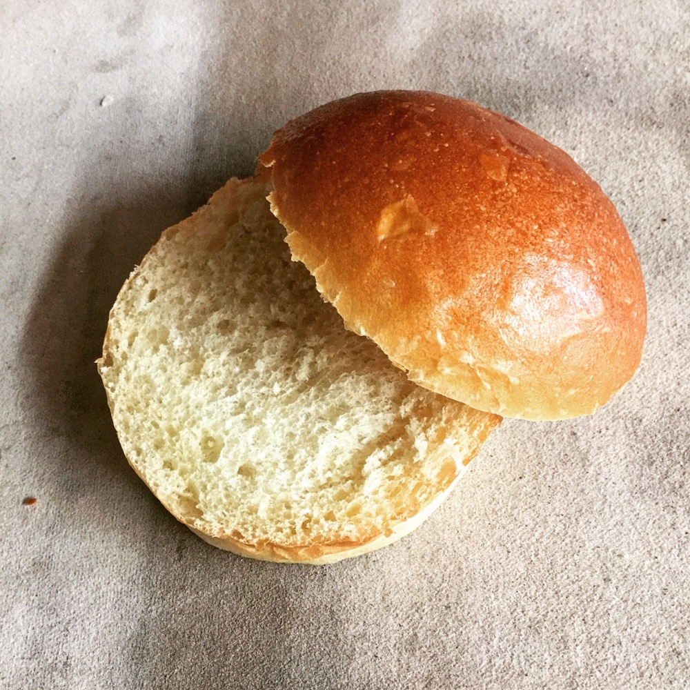 Burger Bun - Ours is a classic burger bun that can handle any sandwich. It's vegan but no one would ever guess. We managed to get all the smoothness and subtle sweetness of a brioche without any eggs or butter.Slider sized Buns also available!