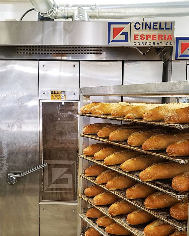 Really happy with our @gcinelliesperia equipment. They helped us throughout the entire build out going above and beyond. We couldn't be happier with the bakes. Thanks again guys--from the bottom of our hearts. We don't care what they say about Canadians, y'all are alright. 😝  #levelup #dream #bakery #philly #phillybread #baker #oven #baguette #sourdough #germantown