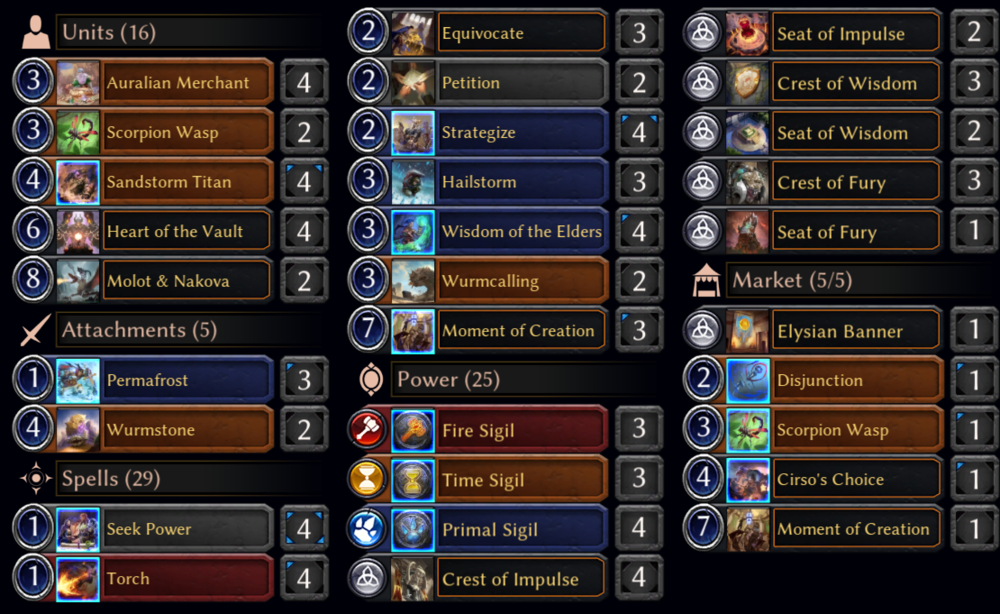Check the deck out on Eternal Warcry