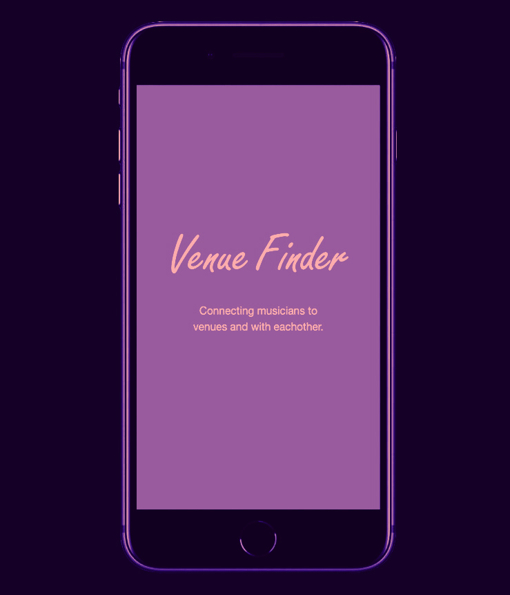 Venue Finder - UI design / A/B Test / ImplementationThis app design is a platform for musicians to connect with venues for gigs, as well as other musicians to collaborate.
