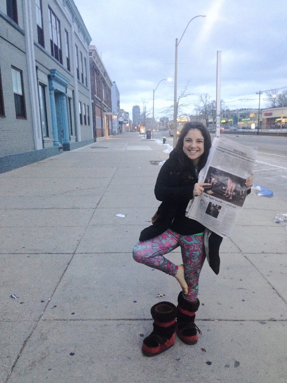 After turning my attitude around, I received a call from the Boston Globe, who wrote an  article  about my work at Pop Allston, which appeared on the first page of the Metro section in the Sunday publication.