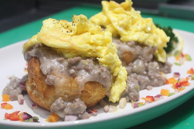Brunch starts in 1 hour! Come by and try our Biscuits N Gravy or order online : #uberests #doordash #grubhub #postmates